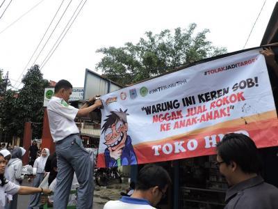 Koin untuk Perusahaan Rokok Dan Si Juki Warnai Kampanye #tolakjaditarget di Bogor dan Tangerang Selatan