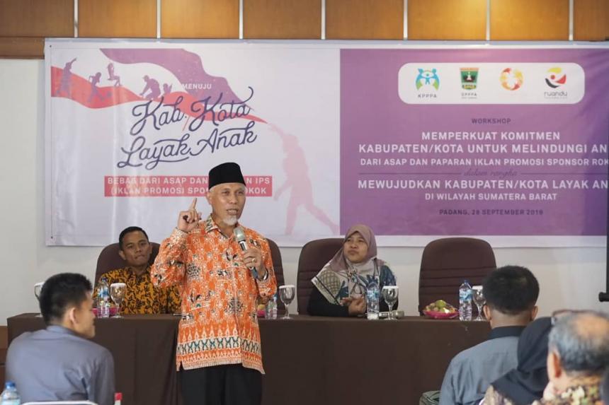 Lindungi Anak dari Dampak Negatif Rokok, 19 Kabupaten-Kota di Sumatera Barat Berkomitmen Miliki Peraturan KTR dan Pelarangan IPS Rokok